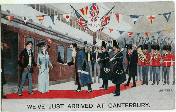 arrived at Canterbury