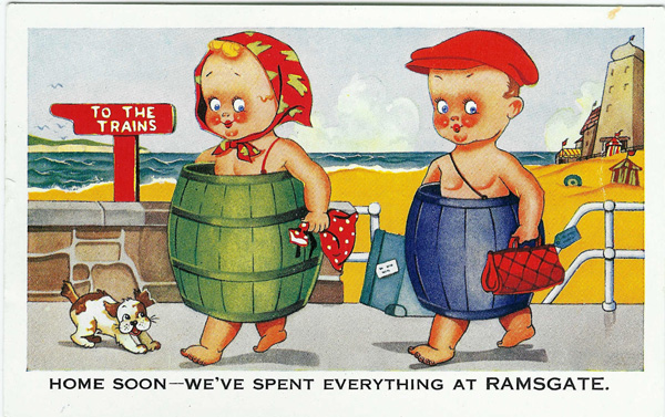 ramsgate seaside comic postcard