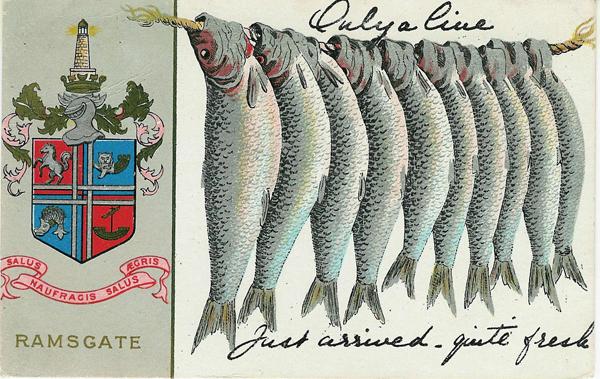 comic postcard Ramsgate