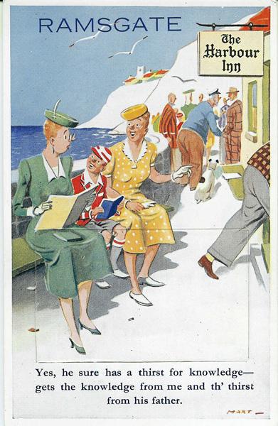 Ramsgate comic postcard