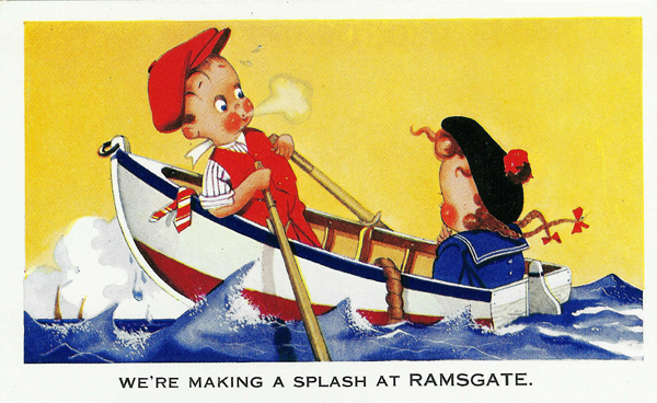 comic seaside postcard Ramsgate