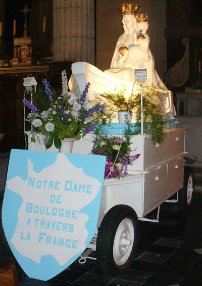 religious festival float, Boulogne Sur Mer