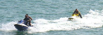 jetskiers in Ramsgate