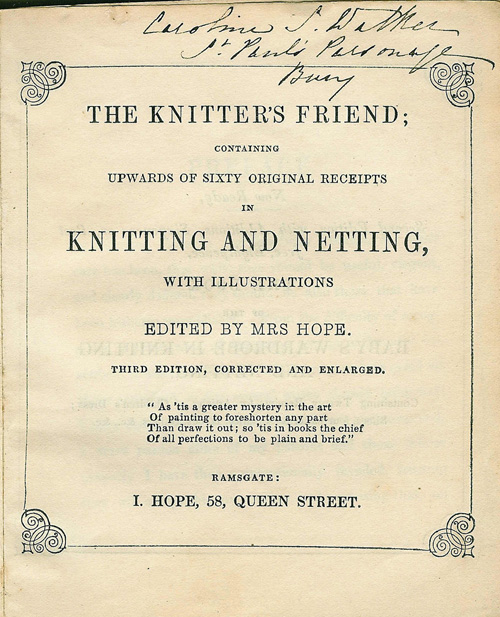 Knitter's Friend
