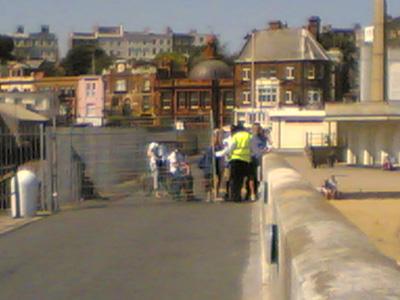 Ramsgate pier wall