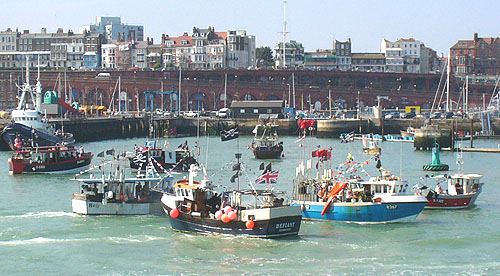 trawlers going mad in Ramsgate